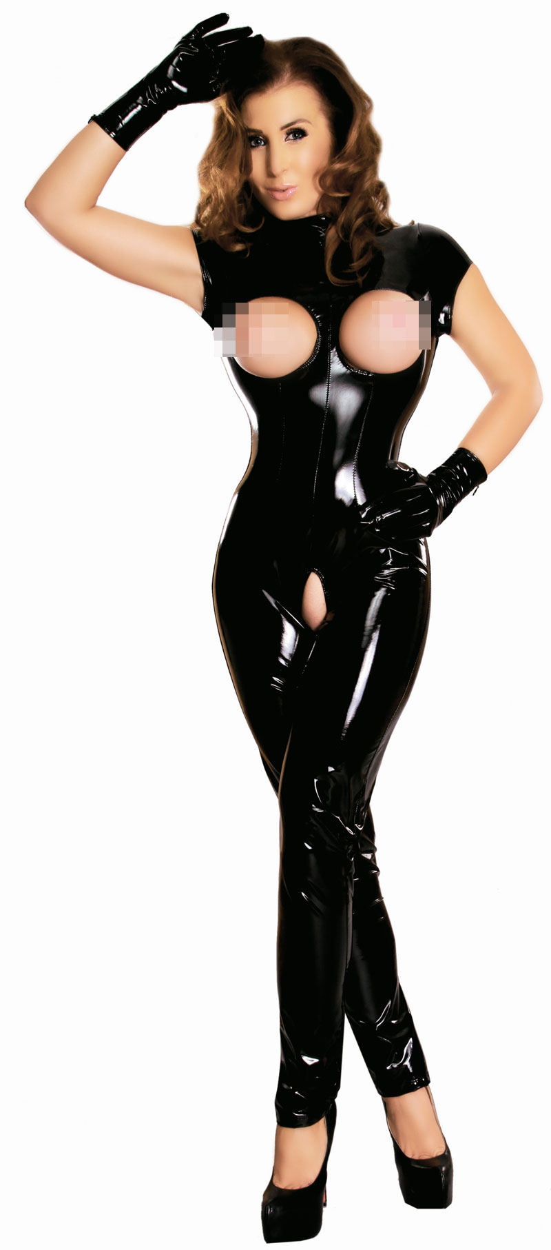 ouvert Latex catsuit