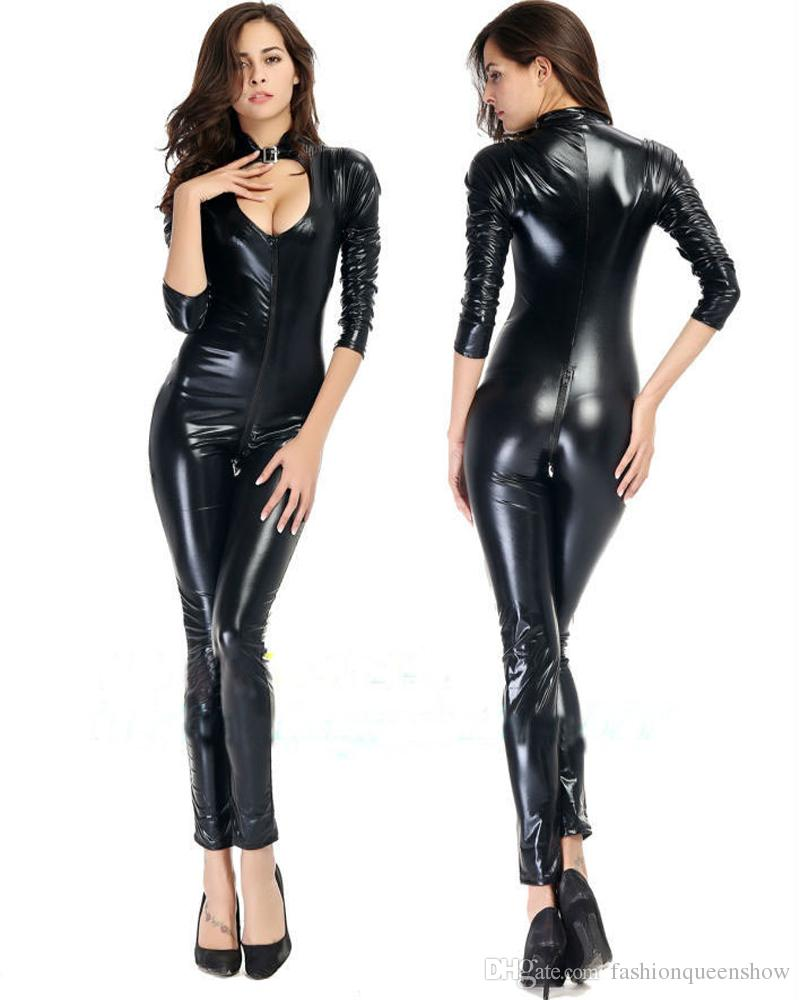 Latex catsuit ouvert